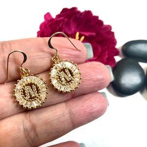 Initial N Earrings, Letter N, Personalized N, Boho